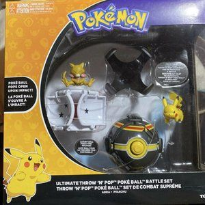 NEW POKEMON  THROW N POP BATTLE SET PIKACHU